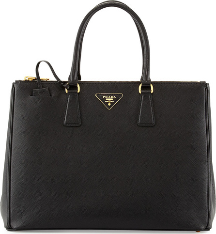 Prada Saffiano Medium Executive Tote Bag, Black (Nero)