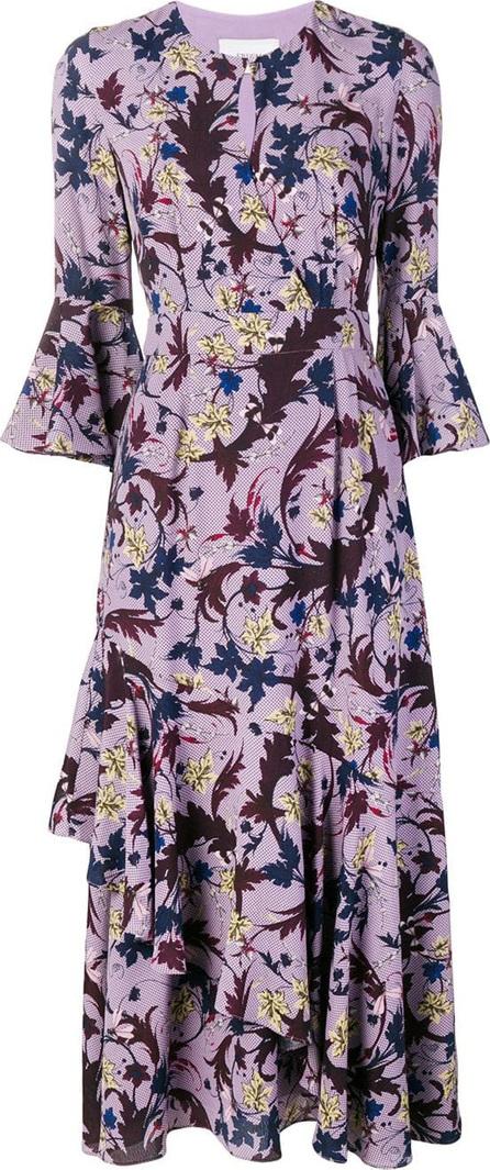 Erdem Floral print ruffle dress