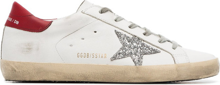 Golden Goose Deluxe Brand White Superstar glitter leather sneakers