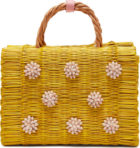 Heimat Atlantica Celeste seashell-embellished basket bag
