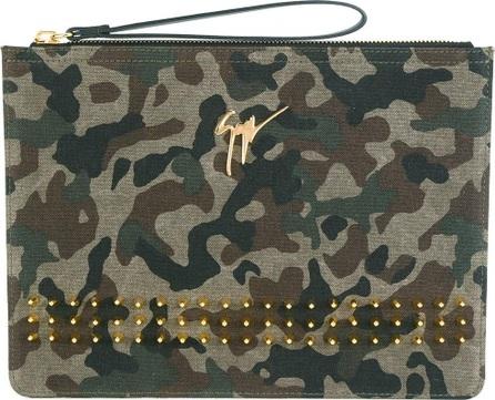 Giuseppe Zanotti camouflage clutch