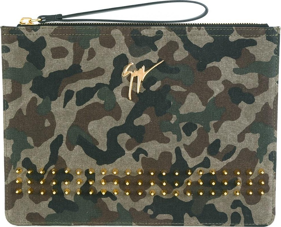 Giuseppe Zanotti - camouflage clutch