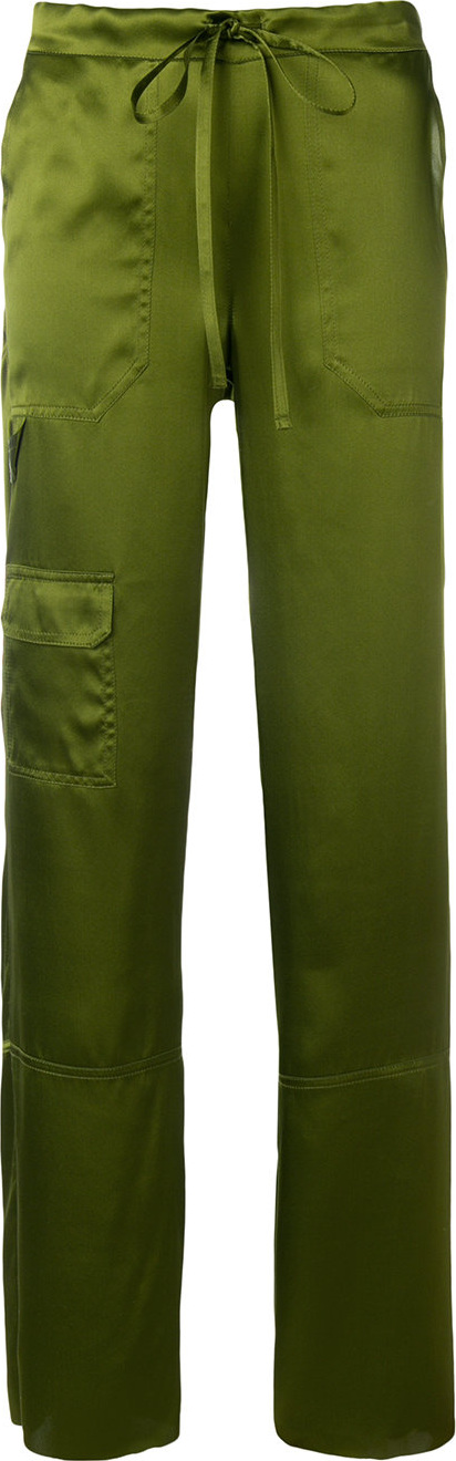 Marques'Almeida - Drawstring-waist flared trousers
