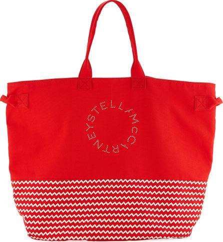 Stella McCartney Striped Large Beach Tote Bag