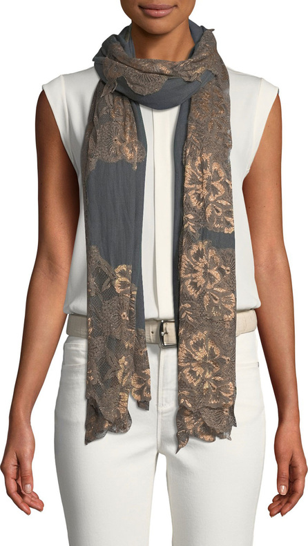Bindya Lace Outlined Scarf