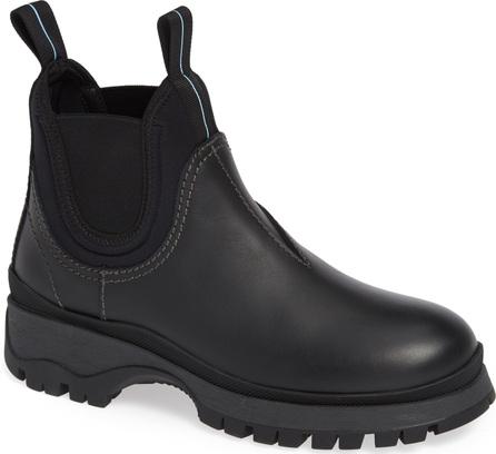 Prada Stretch Fit Lugged Rain Boot