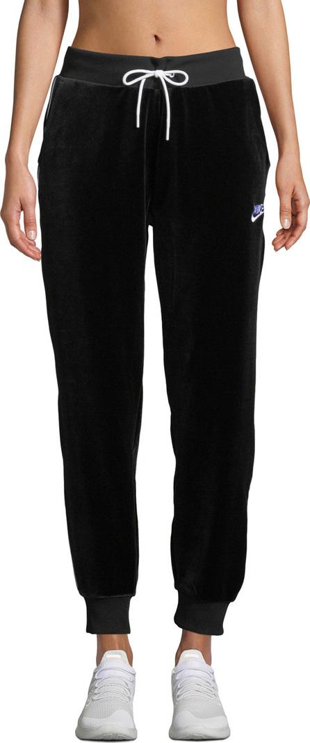 Nike Velour Drawstring Track Pants, Black