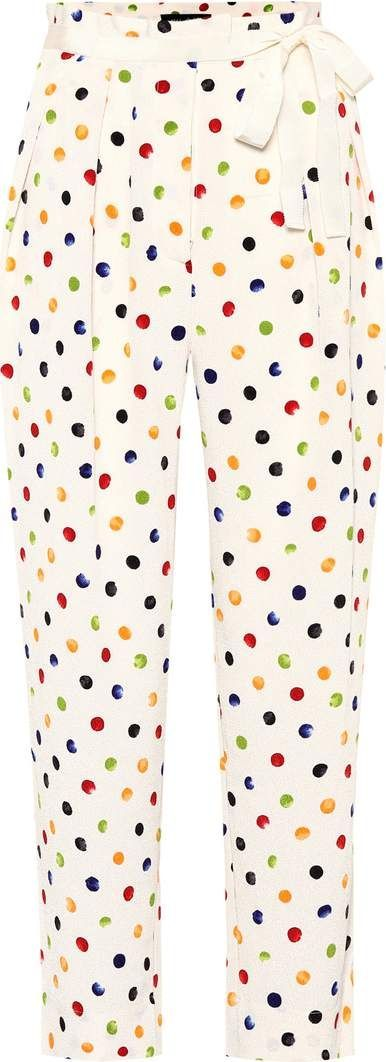 Anna October Cropped polka-dot trousers
