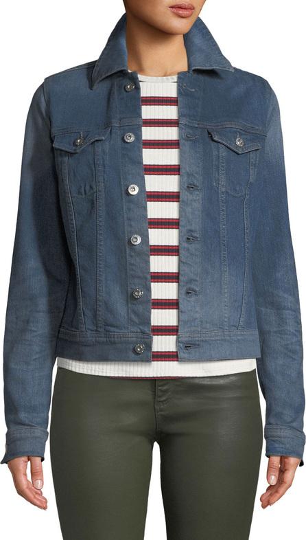 AG Jeans Robyn Button-Front Denim Trucker Jacket