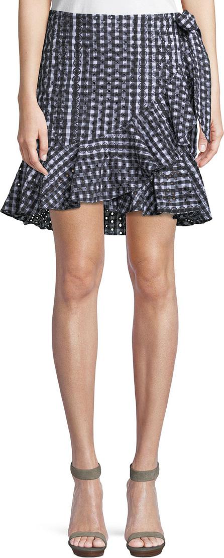 Rebecca Minkoff Alice Faux-Wrap Mini Skirt