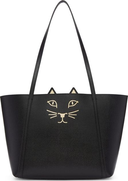 Charlotte Olympia Black Mini Feline Shopper Tote
