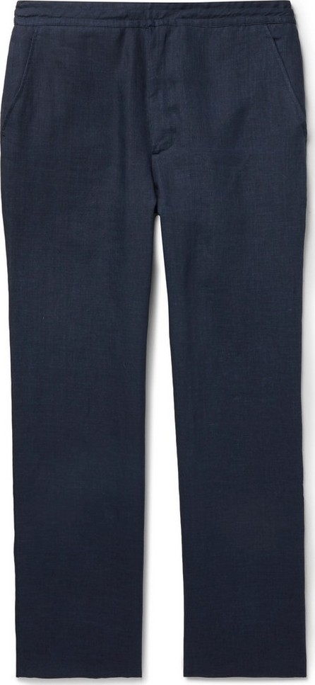 Brioni Navy Linen Trousers