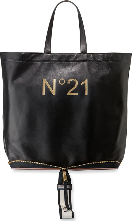 Nº21 Leather Big Foldable Shopping Tote Bag