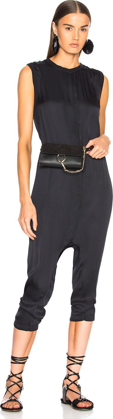 ENZA COSTA Drop Rise Jumpsuit