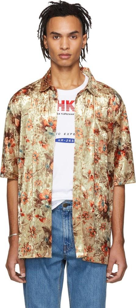 Han Kjobenhavn Gold Velvet Floral Boxy Shirt