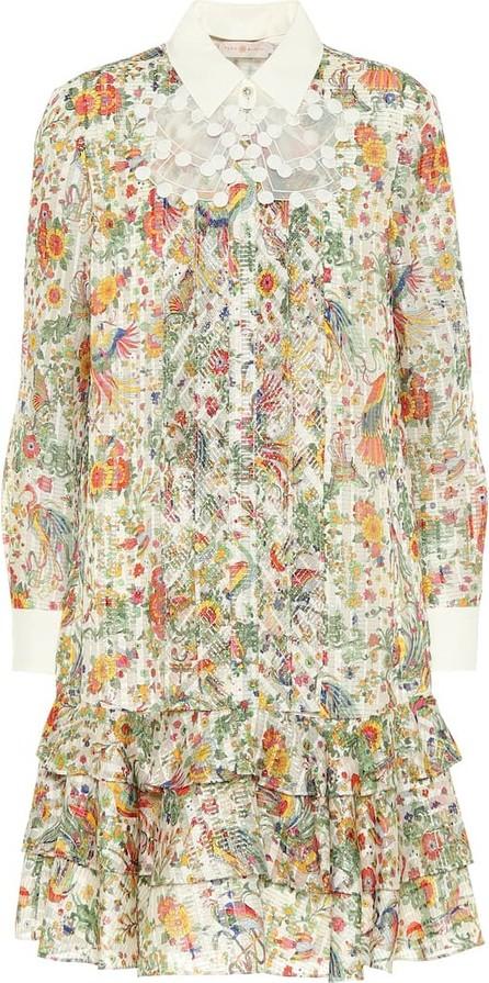 Tory Burch Floral silk-blend minidress
