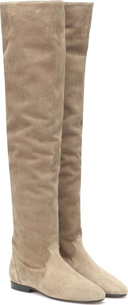 Isabel Marant Ranald knee-high suede boots 6IPzM5qUB