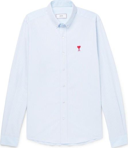 AMI Slim-Fit Button-Down Collar Striped Cotton Oxford Shirt