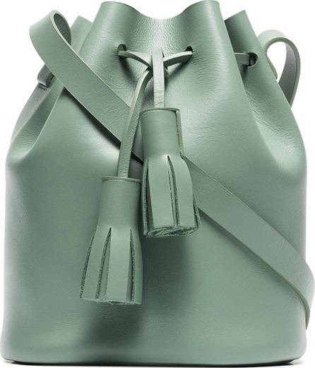 Building Block Green bucket mini leather shoulder bag