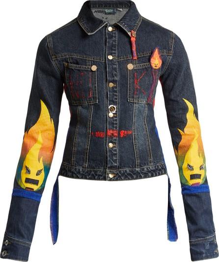 Noki Matchstick-print denim jacket