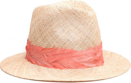 Eugenia Kim Courtney Straw Panama Hat w/ Feather Band