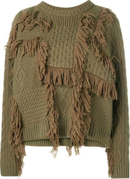 08Sircus Fringe detail chunky sweater