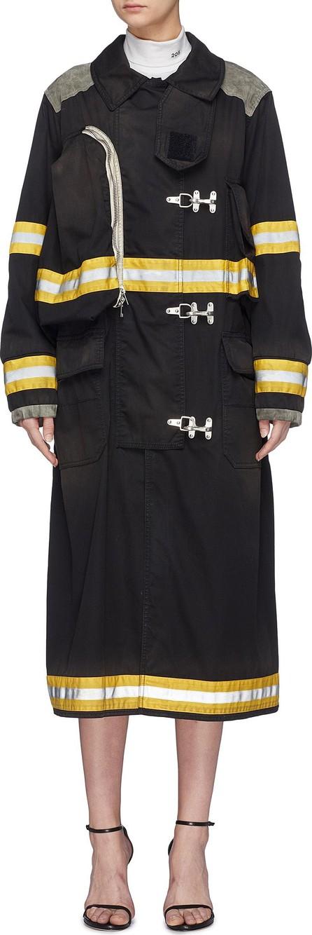 Calvin Klein 205W39NYC 'Firefighter' detachable logo patch stripe twill coat