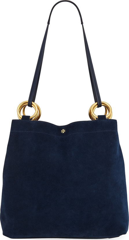 Tory Burch Farrah Silky Suede Shoulder Tote Bag