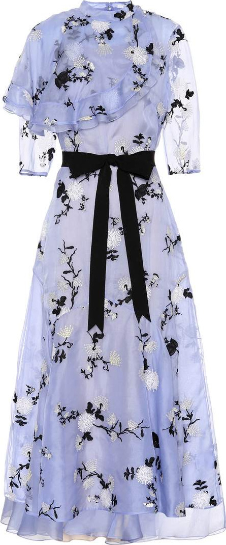 Erdem Shelby embroidered organza dress