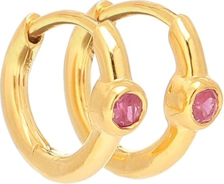 Theodora Warre Ruby Health gold-plated hoop earrings