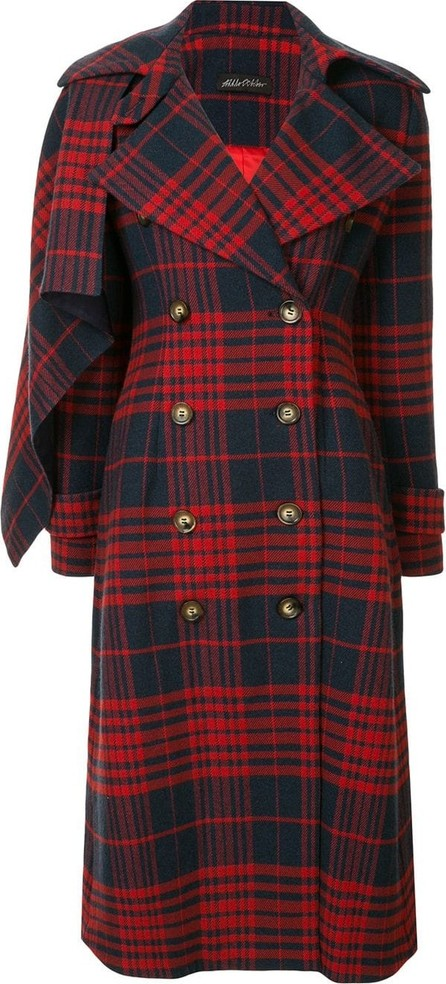 Anna October Checked double-breasted coat