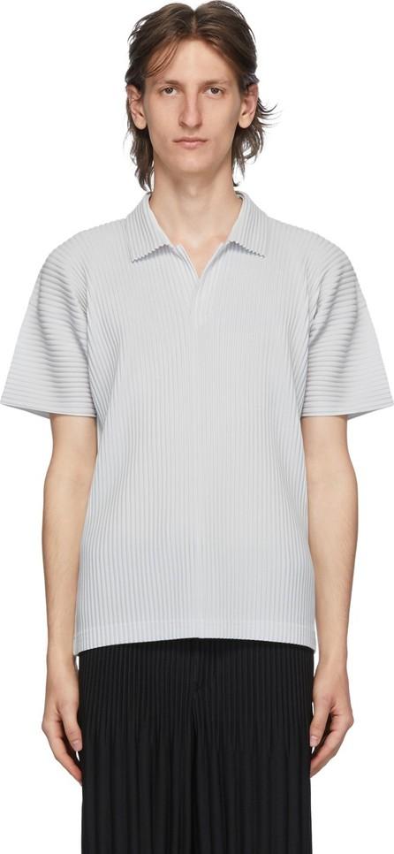 Homme Plissé Issey Miyake Grey Basics Polo
