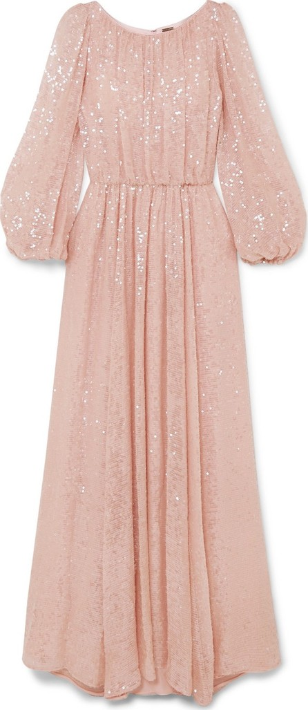 Adam Lippes Sequined chiffon gown