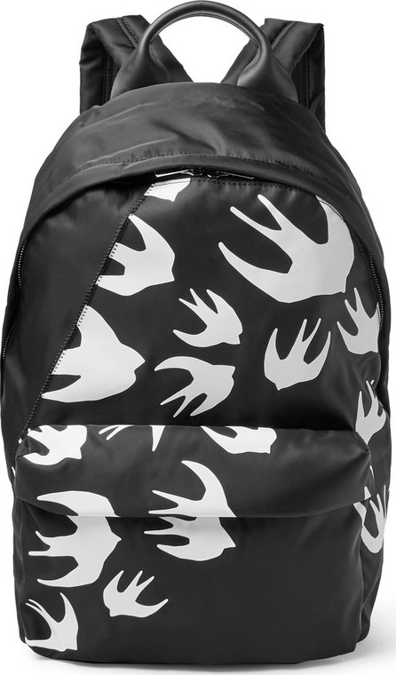 McQ - Alexander McQueen Leather-Trimmed Printed Shell Backpack