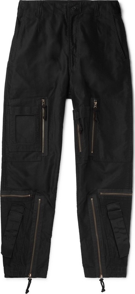 Cav Empt Black Yossarian Tapered Cotton-Twill Cargo Trousers