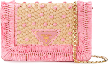 Prada Woven shoulder bag