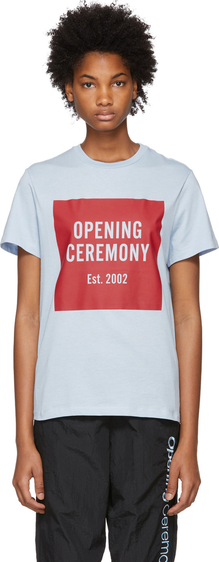 Opening Ceremony Blue Box Logo T-Shirt