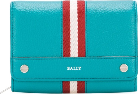 Bally stripe detail fold-over wallet
