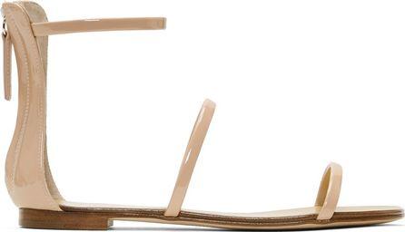 Giuseppe Zanotti Pink Patent Roll Sandals
