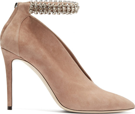 Jimmy Choo Lux 100 suede ankle boots