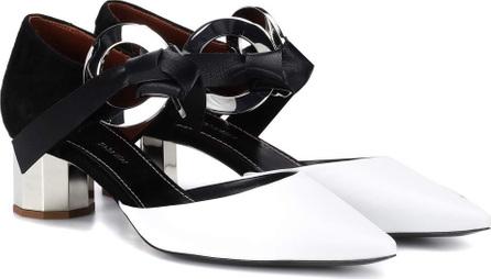 Proenza Schouler Leather eyelet pumps