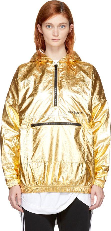 Adidas Originals Gold Metallic Nylon Windbreaker