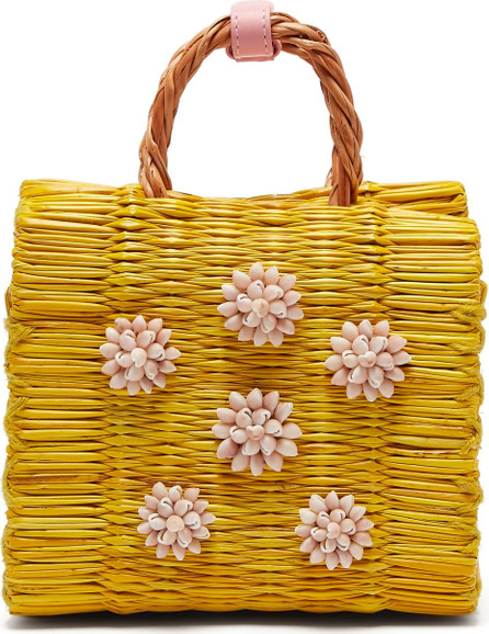 Heimat Atlantica Celeste mini reed basket bag