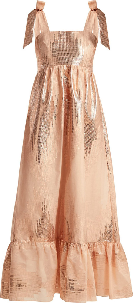 Athena Procopiou Gold Dust metallic-weave dress