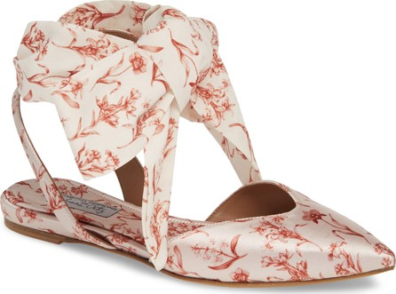 Tabitha Simmons Vera Floral Ankle Wrap Flat