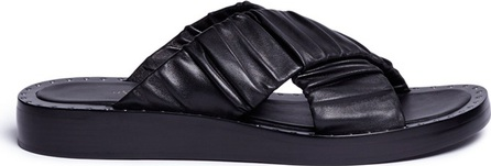 3.1 Phillip Lim 'Nagano' stud crisscross leather slide sandals