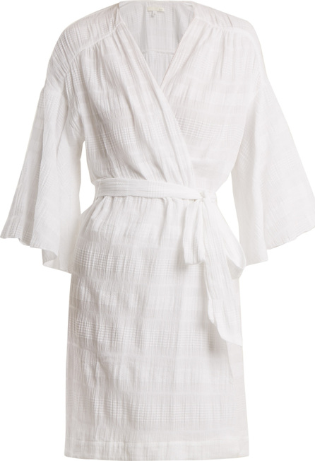 SKIN Nina stretch-cotton gauze robe