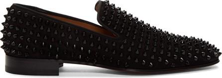 Christian Louboutin Black Dandelion Spikes Loafers