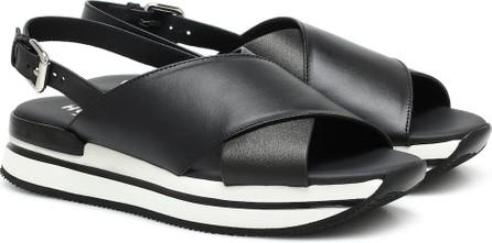 Hogan H257 leather sandals