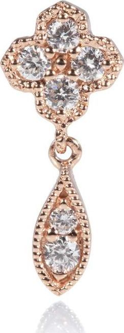 Stone Paris Fleurs du Mal single button earring